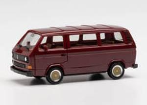 Bilde av VW T3 Buss, vinrød