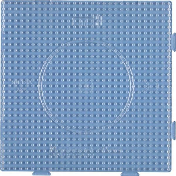 Stor firkant, gjennomsiktig perleplate